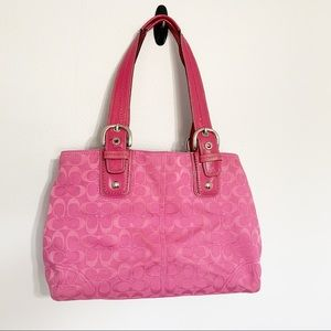 Coach F13118 Carry all pink tote